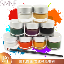 Ise paint body painted ball face color face monochrome halloween makeup textile pigment drama Waterproof