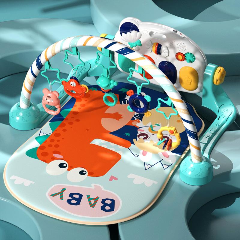 Кролик Бекхэм ножная педаль пианино фитнес стойка Детские игрушки 0 a 3 три 5 шесть месяцев 6 лет новорожденный