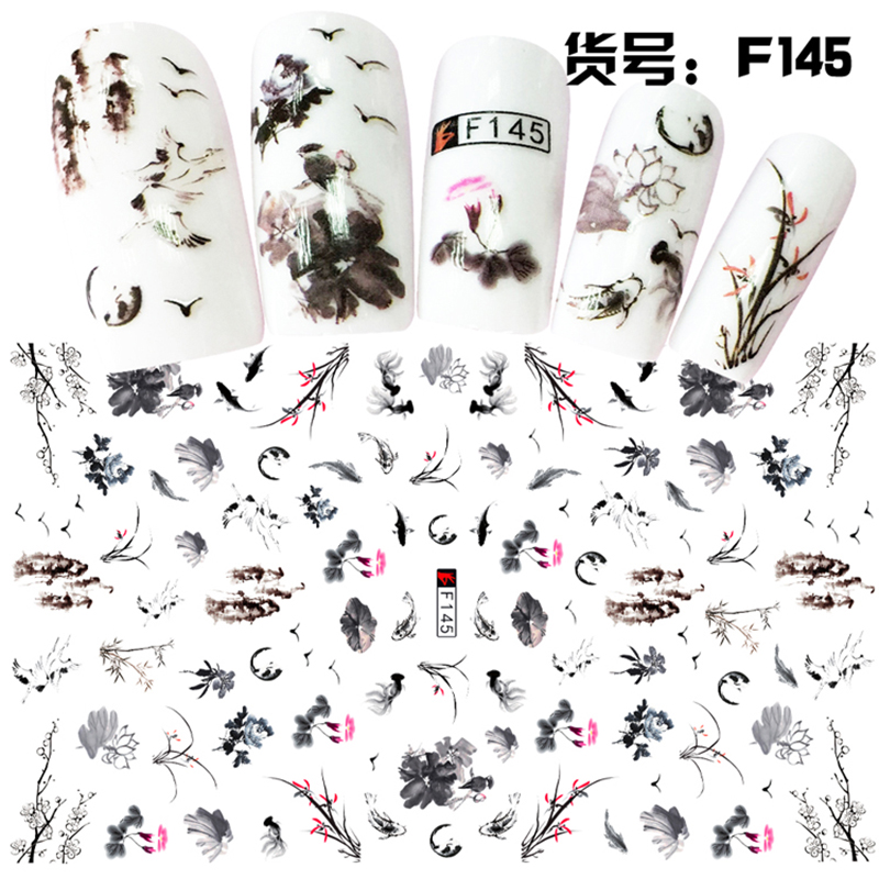 Nail Sticker Ornaments Nail Sticker Korean Waterproof 3D Nail Sticker Net Red Sticker Watermark Sticker F145
