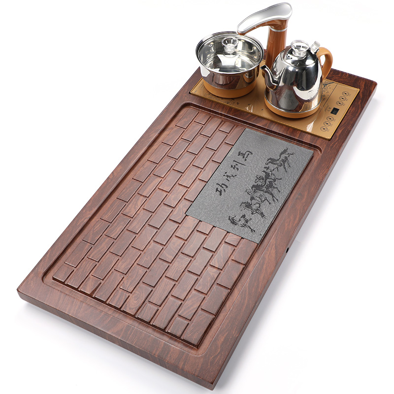 Fully automatic electrical full-page tea plate set home tea set simple tea table modern electric tray all-in-one kung fu tea table