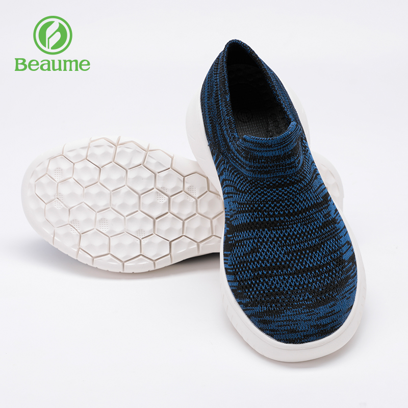 North customers outside the leisure shoes thick-soled knitted mesh shoes mens and womens walking shoes in the elderly mesh shoes breathable