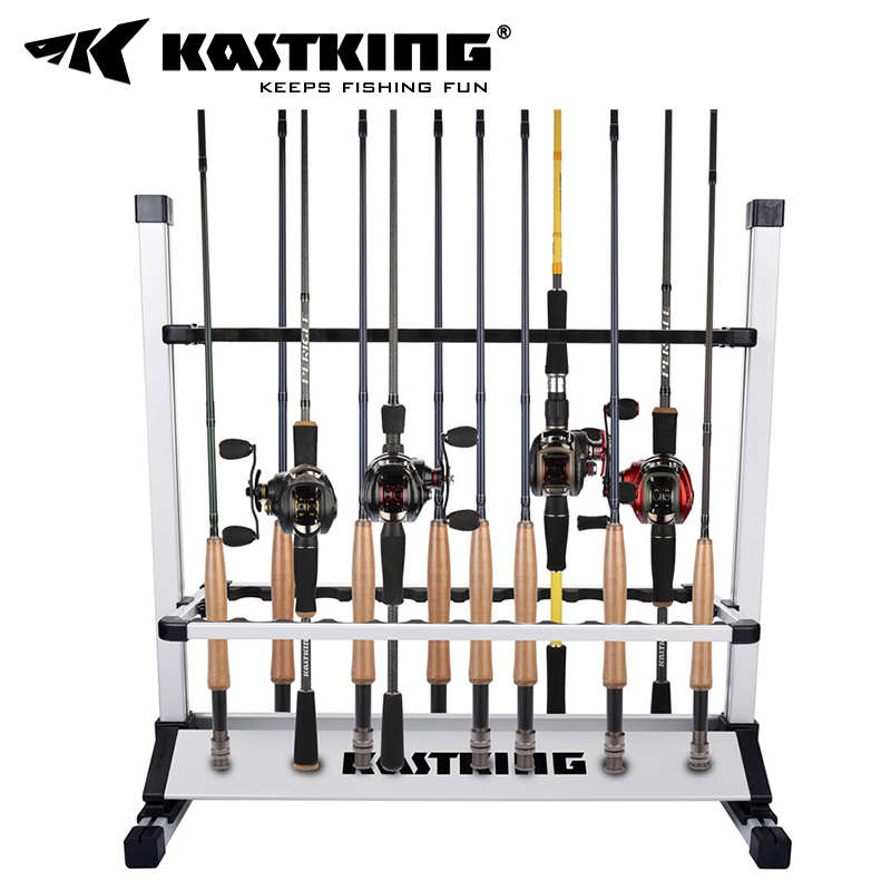KastKing Fishing Gear Subpole Support Aluminum Alloy Receiving and Placing Frame Fishing Pole Frame Display Frame Household