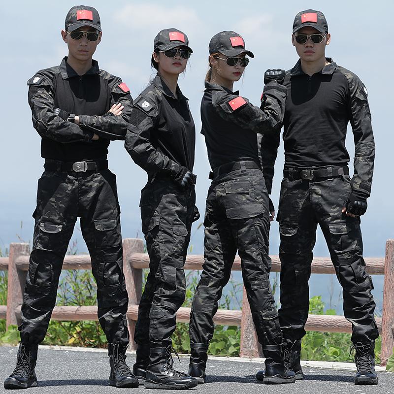Летний камуфляжный костюм лягушки с коротким рукавом тактический костюм мужчины и женщины армейские болельщики открытый расширение полевой тренировочный костюм износостойкий cs костюм
