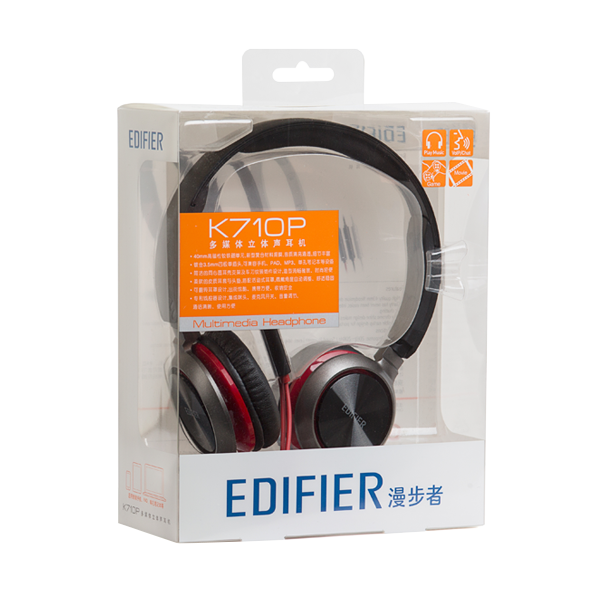 Edifier Walker K710P Headphones, Headphones, Computer Games, Mobile Phones, Earphones, Heavy Bass Tape Microphones