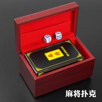 Mahjong card card poker plastic thickenable portable matte travel waterproof household trumpeper poker 144
