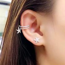 Starfish Ear Clip female ear-free hole earrings ear hanging simple ear bone clip sterling Silver Korean temperament no hole earrings fake ear Nails
