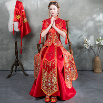 Xiuhe clothing Bridal 2018 new style Chinese wedding dress wedding dress wedding dress toasting clothing to show kimono dragon and Phoenix gown summer
