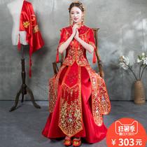 xiuhe vêtements mariée 2018 nouveau style robe de mariée chinoise robe de mariée robe de mariée toast vêtements pour montrer le kimono dragon et phoenix robe dété