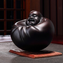 Huangquan Fu wood carving Miller Buddha ornaments carved crafts Buddha statue ebony wood to cash money Buddha to play hand-to-hand pieces