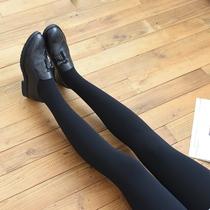 Толпа с нетерпением жду бархат 1000D утолщенные колготках осенью и зимой играя нижней носки тощие ноги полосатые носки