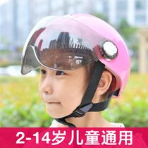Childrens electric car helmet for boys and girls children baby helmet Summer breathable four seasons universal battery car full helmet