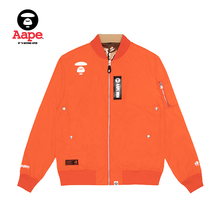 AAPE men's spring and summer ape face letter print double camouflage MA-1 flying jacket jacket 7346xxe