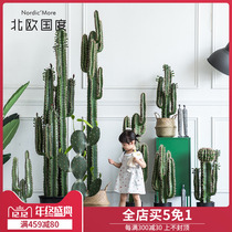 Nordic country Large simulation cactus decoration living room Landing Fairy column ins Nordic potted plant decoration decoration