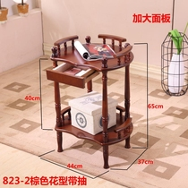 Coffee table Mahjong machine Mahjong table next to the corner of a few thickened ashtrays Chess and card room teahouse special supporting wooden tea rack