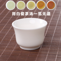 Dehua white porcelain small teacup tasting cup kung fu tea cup master cup high temperature thin tire single cup through white jade porcelain personal cup.