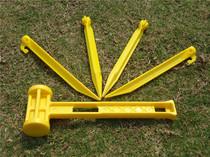 Outdoor Tent nail Bag hammer plastic tent nail hammer multifunctional hook nail with nail nail hammer camping