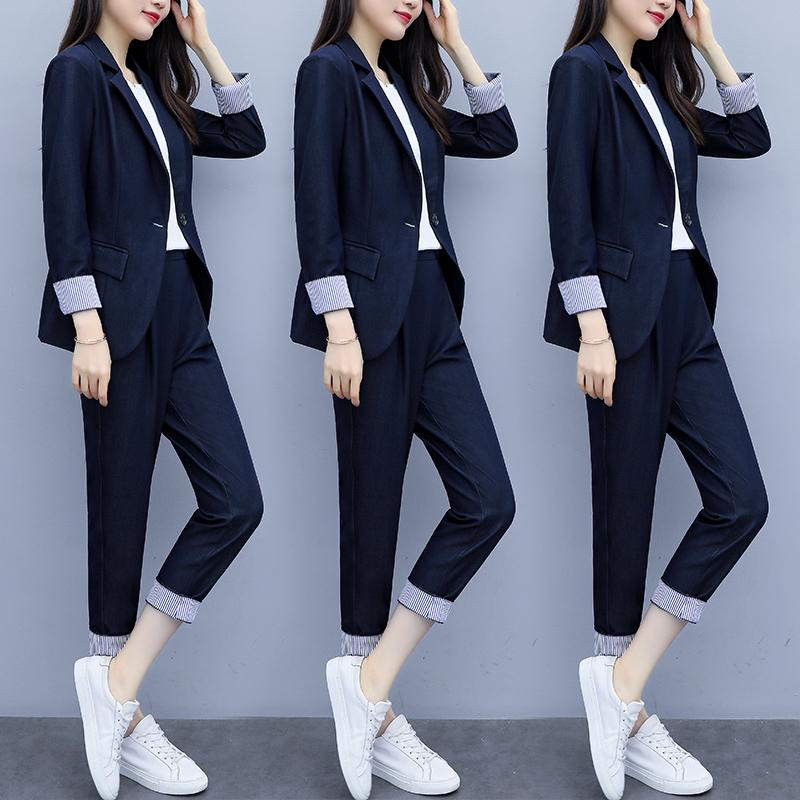 Suit suit women 2021 spring new Korean version of fashion temperament professional dress net red casual women blazer