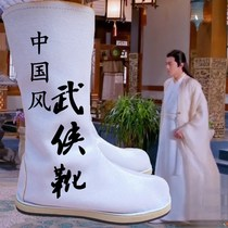 Chu Qiao passed on the same antique boots Mens martial arts boots Chinese wind official boots cos million boots show mens and womens boots