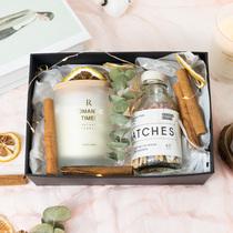 Niche parfum cadeau aromathérapie bougie coffret cadeau avec cadeau à la main pour copines mariage fille anniversaire séché fleur décoration