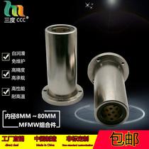 Round flange plus long oil-free bushing copper sleeve wear-resistant external steel internal copper composite parts MFMW LMF30L