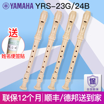 Yamante straight flute 8-hole high-pitched German musical instrument YRS-23G 24B students children are beginning to learn C-tone English introduction