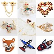 Xigadiisi til broche Dames 2019 ensemble petit avions compteurs véritable corsage broches haut de gamme accessoires bijoux