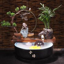 Керамический проточной воды аквариум лаки фэн-шуй колесо украшения домашний офис настольные украшения открытие новоселье подарки