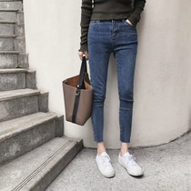 Version-style slim pencil jeans
