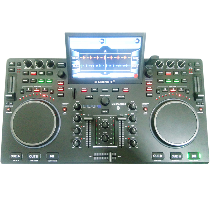 U disk disc player control device mobile phone disc player one machine disc player mixer sound mixer large color screen