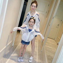 Net red parent-child dress mother and daughter dress yangqi spring and summer 2020 high-end mother and child wear sunscreen coat a three Tide