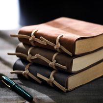 European magic book Diary retro book thick thick handmade leather book leather creative notebook