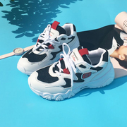 The new Korean ulzzang autumn sports shoes all-match Harajuku Street students thick soled running shoes tide