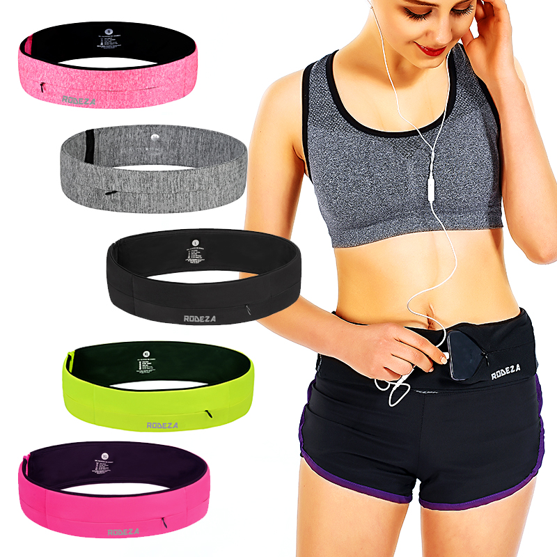 Sports waist bag female invisible running mobile phone waist bag mens multi-functional fitness equipment ultra-thin small belt anti-theft