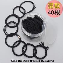 Les enfants de la tête de la corde femelle de la bande de caoutchouc de la corde de la coiffe simple coréen de létui noir de haute élasticité de la bande de liaison de cheveux adultes de lanneau de cheveux