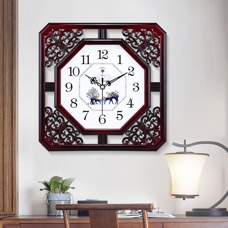 Polaris new Chinese living room silent clock 錶 creative clock personality home bedroom quartz clock Chinese wind