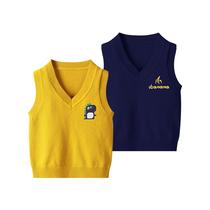 Boys sweater vest vest 2020 new baby children Autumn wool sweater foreign childrens sweater cartoon tide