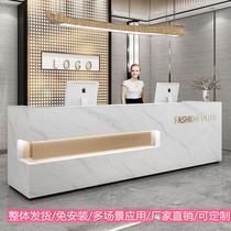 Cashier Simple modern company front desk table Hotel reception desk Womens clothing store Beauty salon bar counter custom