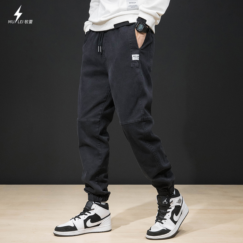 Autumn and winter casual pants men's trendy brand loose large size trousers fat plus cashmere harem pants trend wild aj trousers