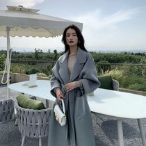2021 autumn and winter new double-sided cashmere coat womens long loose thick temperament high-end woolen coat