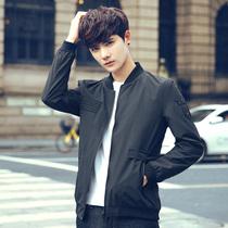 Mens spring and autumn slim handsome Korean trend fall baseball wear