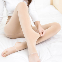 Meat color plus velvet thick leggings spring and autumn foot skin color women wear light leg socks warm-keeping artifact pantyhose autumn and winter