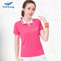 Summer Sports short sleeve lapel T-shirt lady big code casual ventilation half sleeve middle-aged and old shirt polo shirt group Buy