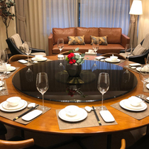 MA92 Shanghai spot brown tempered glass turntable Restaurant hotel round table base Home dining table panel turntable