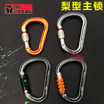 Phang Petzl M36 M38 Outdoor mountaineering climbing big open pear type automatic main lock wire buckle lock safety buckle