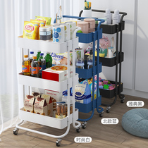 Trolley shelves floor-to-ceiling multi-layer removable baby bookshelf supplies bathroom snack storage shelves