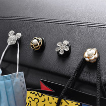 Car inner hook pasted front row Creative practical diamond set Cute car multi-function seat back small hook