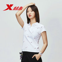 Special step short-sleeved POLO shirt women summer New lapel short-sleeved T-shirt fashion casual breathable half-sleeved blouse women
