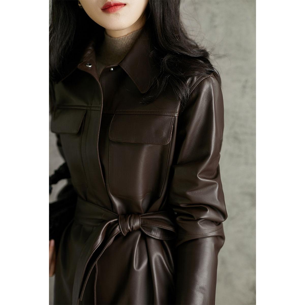 Laughing Hange high-quality big tone cool beautiful shirt-style sheepskin windcoat jacket PYD361610AG