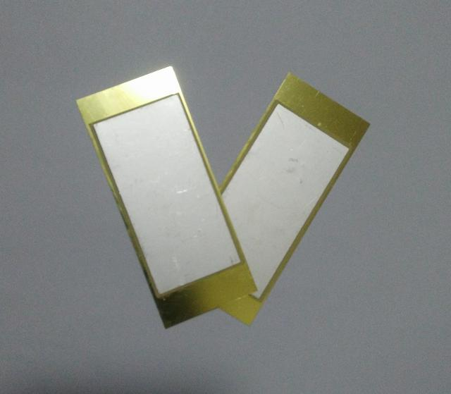 Double crystal piezoelectric sheet, ceramic sheet, power sheet Piezoelectric power sheet Piezoelectric sheet 80mmx33mmx0.6