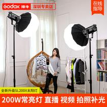 Shen Niu live light SL200W II second generation photography light LED fill light constant light Childrens photography fill light